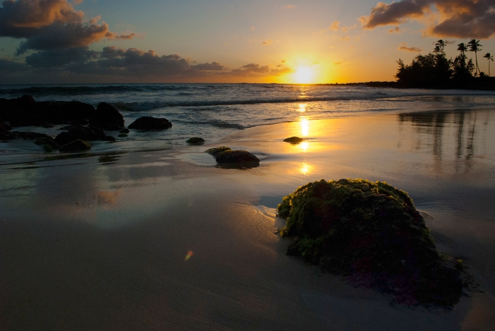 Sunset in Lihue, Hawaii