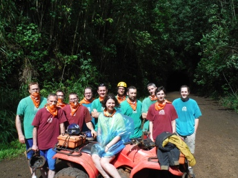 Team Akismet on the ATV tour