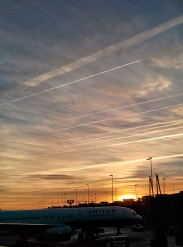 Sunrise over Washington DC on the trip home