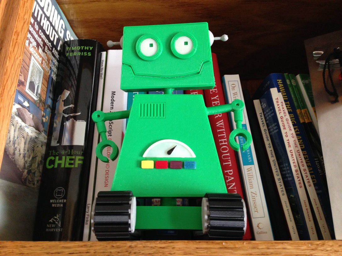 Akisbot figurine built by Chris Finke