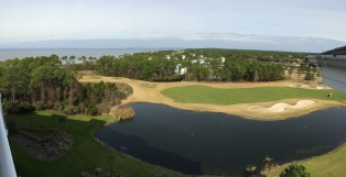 A great view of the golf course from our hotel.