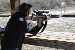 Our entire team was able to shoot a SCAR MK 17, which was a beast of a rifle.