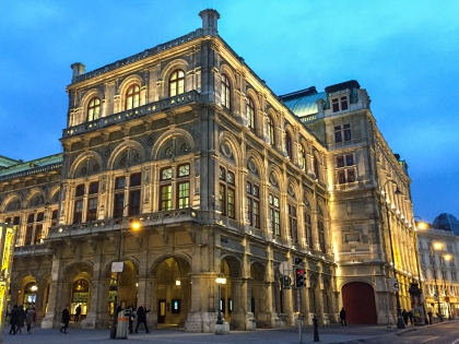 Vienna Opera House at night
