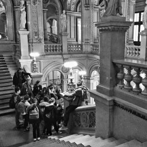 Touring the opera house